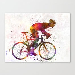 cyclist road bicycle Canvas Print