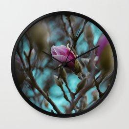 magnolia in bloom #society6 #decor #buyart Wall Clock