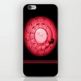 The dialer dials red iPhone Skin