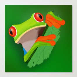 Red-eyed tree frog Canvas Print