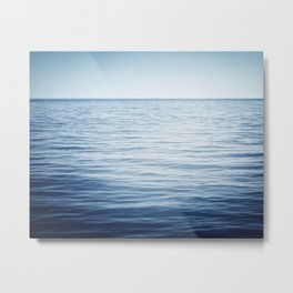 Blue Ocean Seascape, Dark Blue Sea Landscape Photography, Ocean Horizon Metal Print