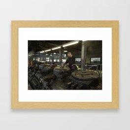 Station for stem locomotives Framed Art Print