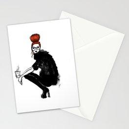 Redhead fashion model Stationery Cards
