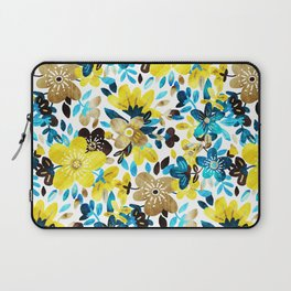 Happy Yellow Flower Collage Laptop Sleeve