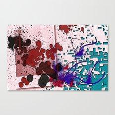 Pixelated Polaroid Canvas Print