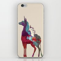 the last unicorn iPhone & iPod Skins featuring The Last Unicorn by nellfoxface