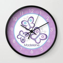 Madeleine Butterfly Clock Wall Clock