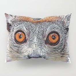 Crowned Lemur Face Mammal Red Eyes Toally Original Style Pillow Sham