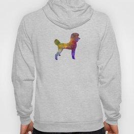 Poodle 01 in watercolor Hoody