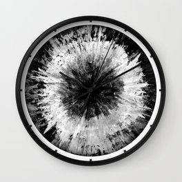 Black and White Tie Dye // Painted // Multi Media Wall Clock