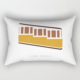 Lisbon, Funicular, Ascensor da Bica, Portugal Rectangular Pillow