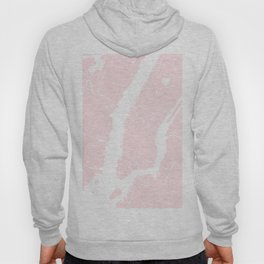 New York City Pink on White Street Map Hoody