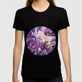 Purple Leaves with Gold Flakes T-shirt
