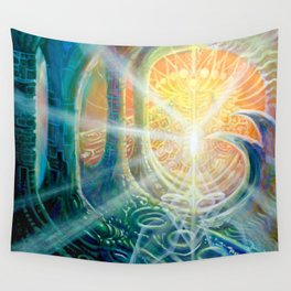 """""""Light Temple"""" by Adam France Wall Tapestry"""