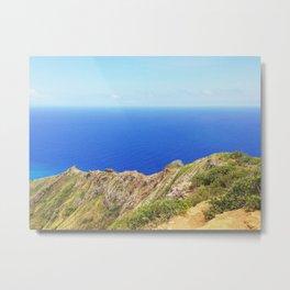 Koko Head Crater Rim And Blue Ocean Metal Print