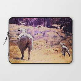 Lamb Frolic with Mama Ewe by CheyAnne Sexton Laptop Sleeve
