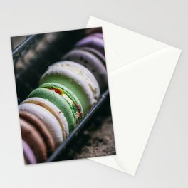 bite french macarons Stationery Cards