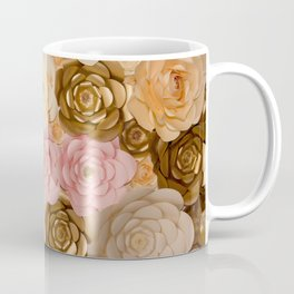 Paper Flowers x Gold Pink Cream Coffee Mug