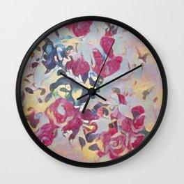 Spring Roses Wall Clock