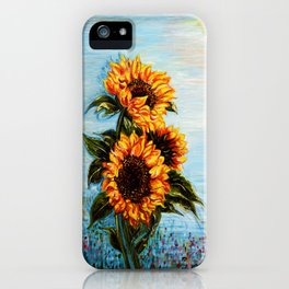 Sunflowers! Where Ocean meets Sky iPhone Case