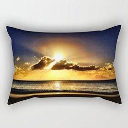Caribbean Sunset - Antigua & Barbuda Rectangular Pillow