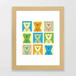 Grumpy Teds Pastel Block Framed Art Print