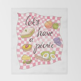 Let's Have A Picnic Throw Blanket