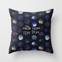 Made From Star Stuff in Black Throw Pillow