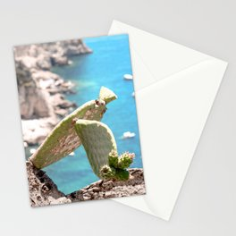 Cactus By The Sea in Sorrento Italy Stationery Cards