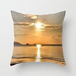 Thatcher Rock Sunrise Throw Pillow