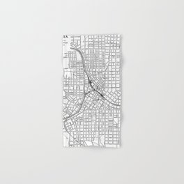 Vintage Map of Atlanta Georgia (1901) BW Hand & Bath Towel