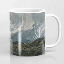 Menacing Mountain peaks with fog coming in Coffee Mug