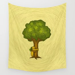 Tree Hugger Wall Tapestry