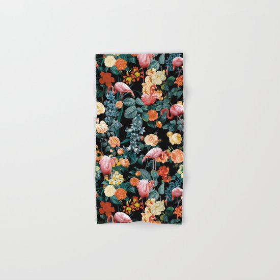 Floral and Flemingo II Pattern Hand & Bath Towel