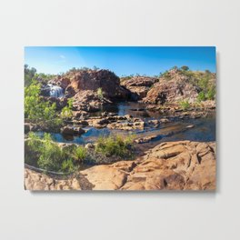 Panoramic view at Edith Falls, Katherine, Australia Metal Print