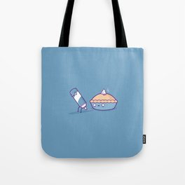 Cream pie Tote Bag