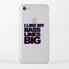 Bass Lines Big Music Quote Clear iPhone Case