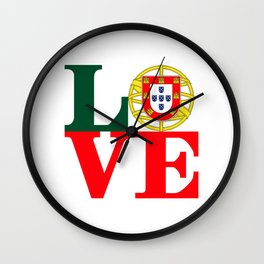 Love Portugal Wall Clock