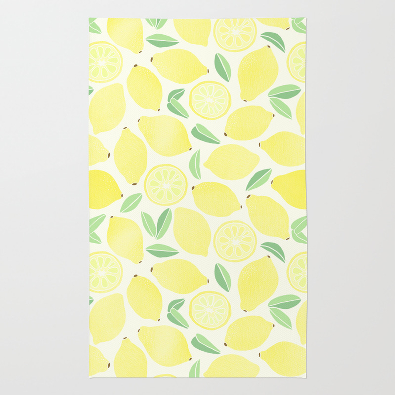 Lemon Kitchen Rug Rugs Ideas
