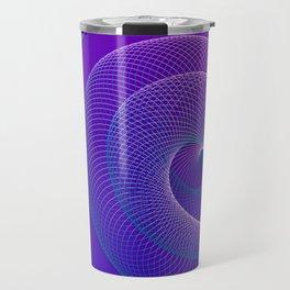 Spiral helix 3d illustration Travel Mug