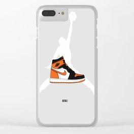 "Air Jordan 1 ""Shattered Backboard"" Clear iPhone Case"