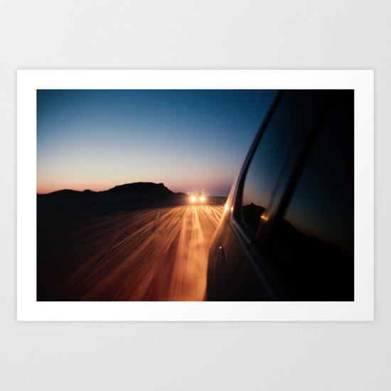 4x4 Sunset Drive Art Print