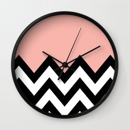 CORA COLORBLOCK CHEVRON  Wall Clock