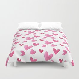 Be my valentine blush pink vector romantic heart pattern Duvet Cover