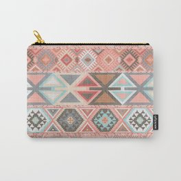 Aztec Artisan Tribal in Pink Carry-All Pouch