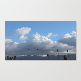 Palm Trees & Clouds Canvas Print