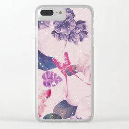 Jungle Flowers Clear iPhone Case