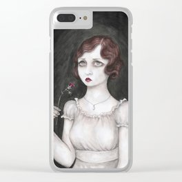 Deadly Nightshade Clear iPhone Case