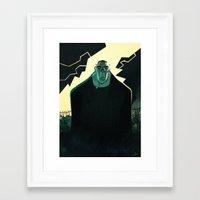 frankenstein Framed Art Prints featuring Frankenstein by Annalisa Leoni