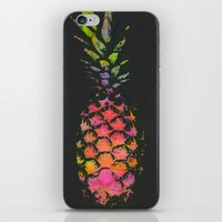 pineapple iPhone & iPod Skins featuring Pineapple by Georgiana Paraschiv